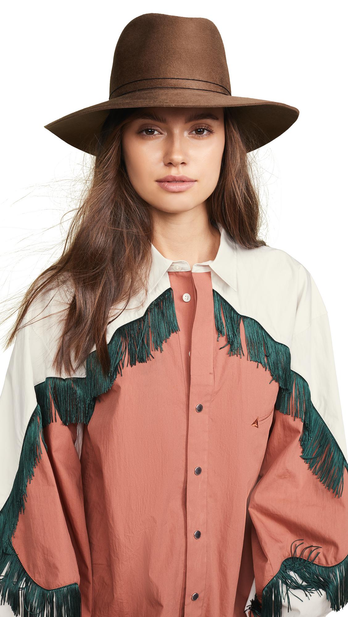 Janessa Leone Billie Fedora Hat In Camel