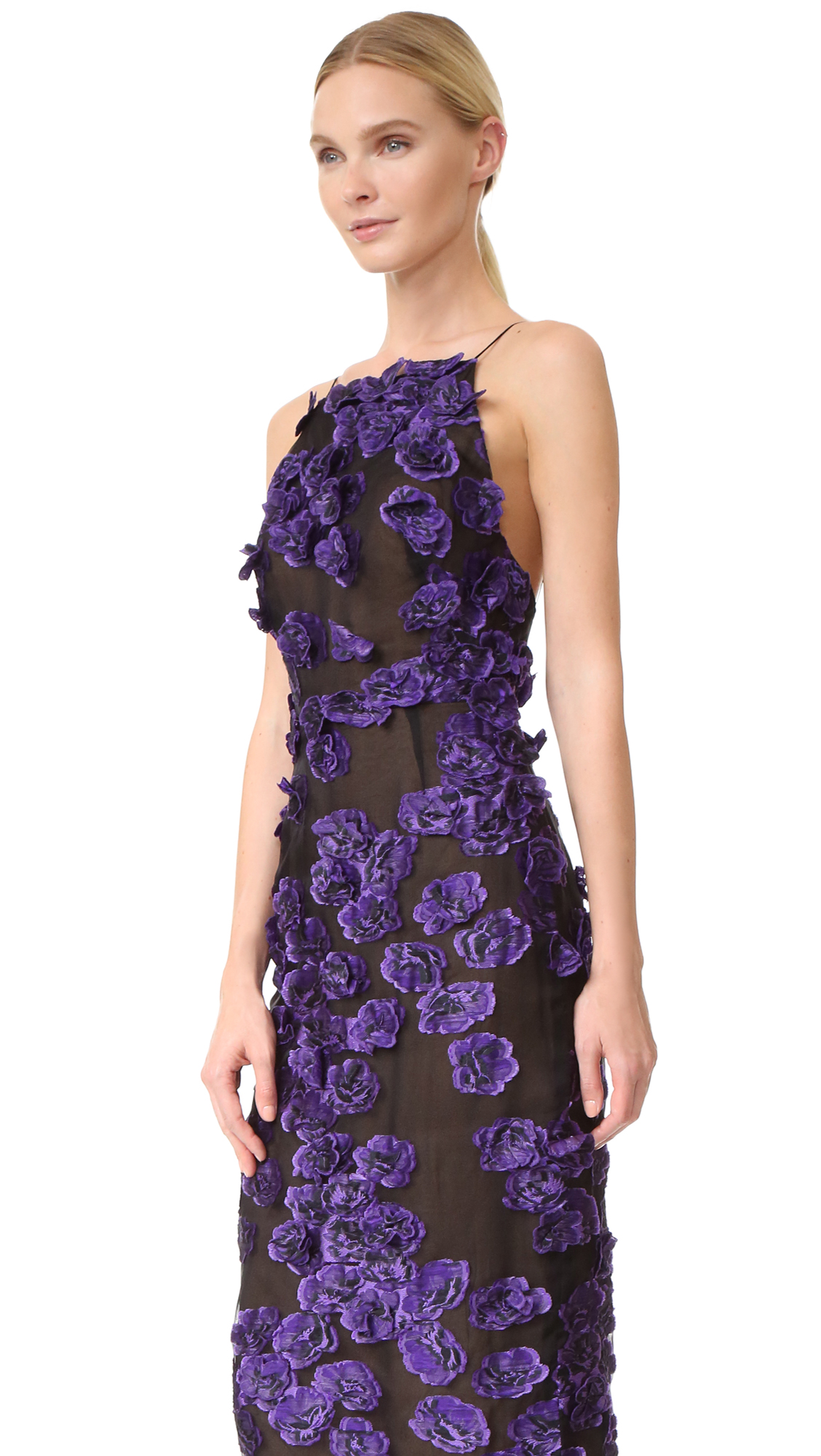 Jason Wu Floral Sleeveless Fil Coupe Dress | SHOPBOP