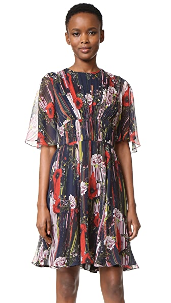 Jason Wu Chiffon Print Cocktail Dress