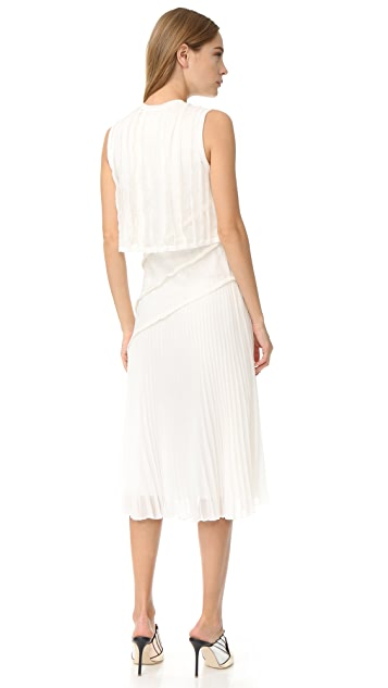 Jason Wu Pleated Sleeveless Dress