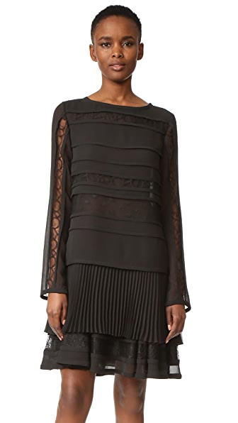 Jason Wu Long Sleeve Cocktail Dress - Black