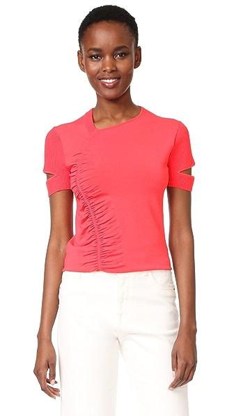 Jason Wu Short Sleeve Top - Neon Pink