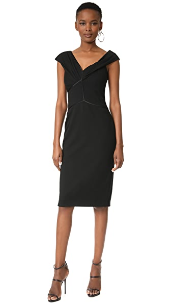 Jason Wu Asymmetrical Dress In Black