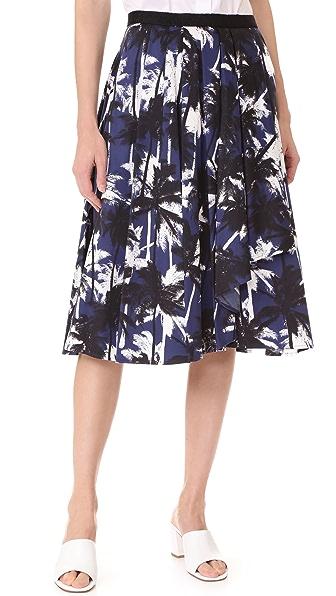 Jason Wu A Line Skirt In Navy Multi