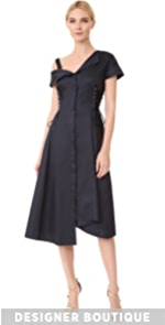 Asymmetrical Lace Up Dress Jason Wu