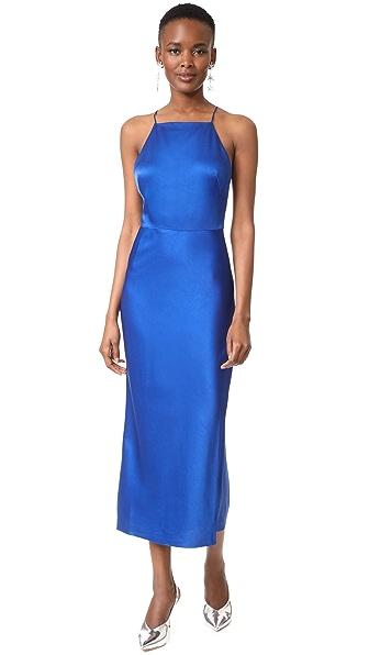 Jason Wu Satin Cocktail Dress - Klein Blue