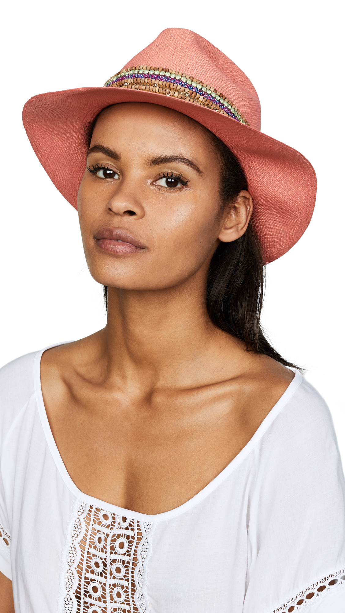 Jaunt The Anacapri Small Brim Panama Hat - Multi