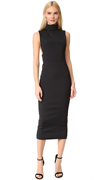 Julianna Bass Khloe Sleeveless Mock Neck Dress