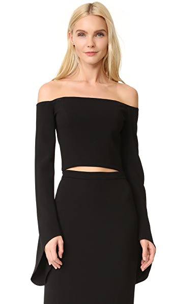 Julianna Bass Nicolette Off Shoulder Top - Black