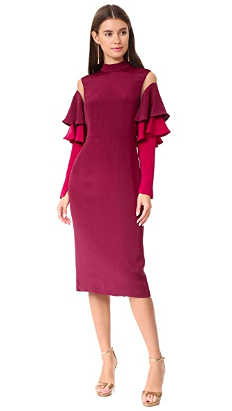 Julianna Bass Mimi Dress - Oxblood