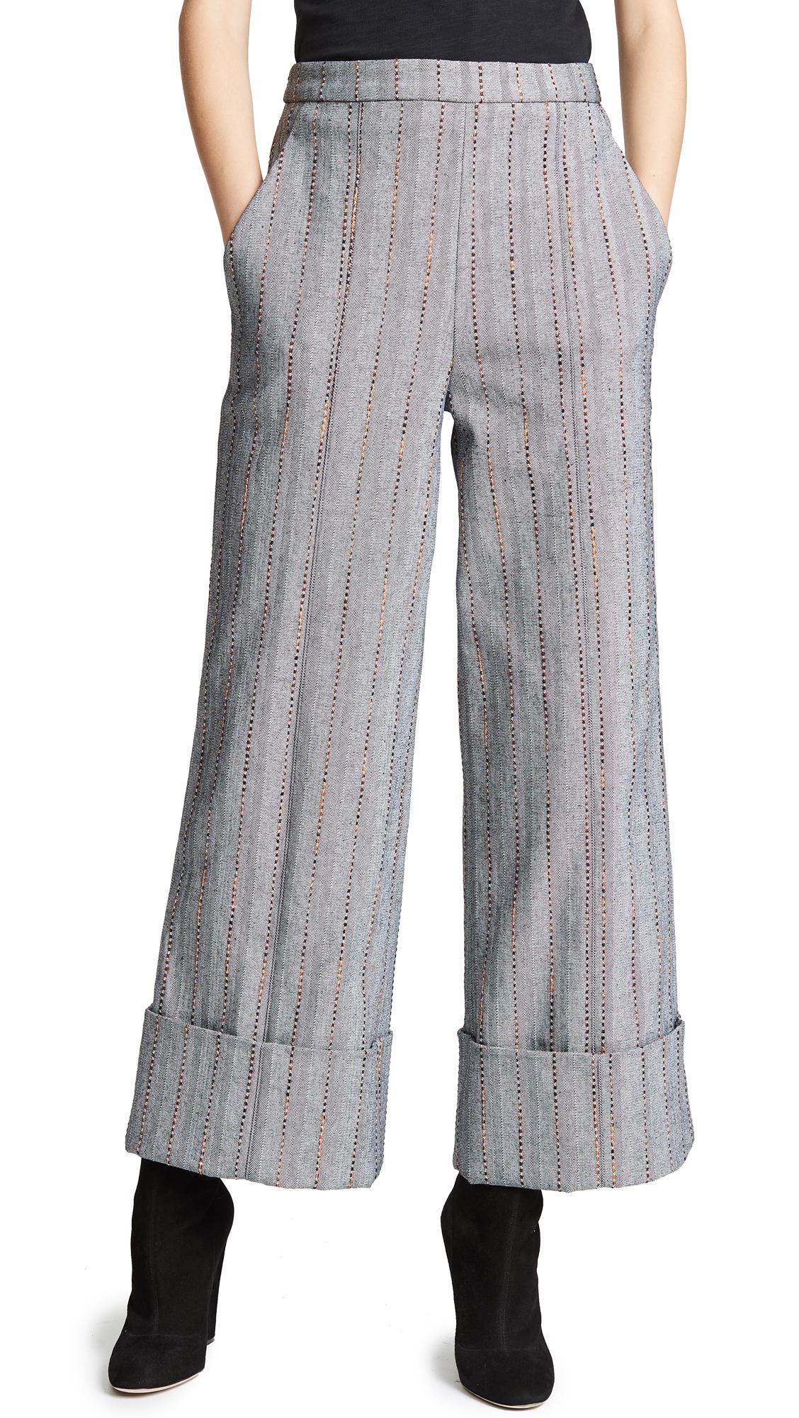Julianna Bass Cropped Carolyn Trousers