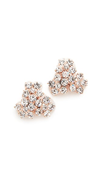 Jennifer Behr Violet Stud Earrings - Rose Gold