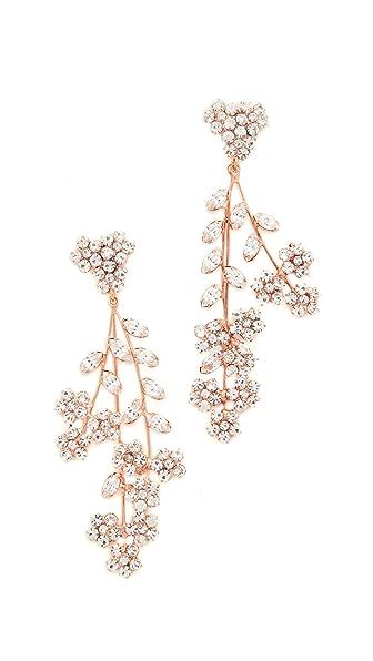Jennifer Behr Violette Chandelier Earrings - Rose Gold