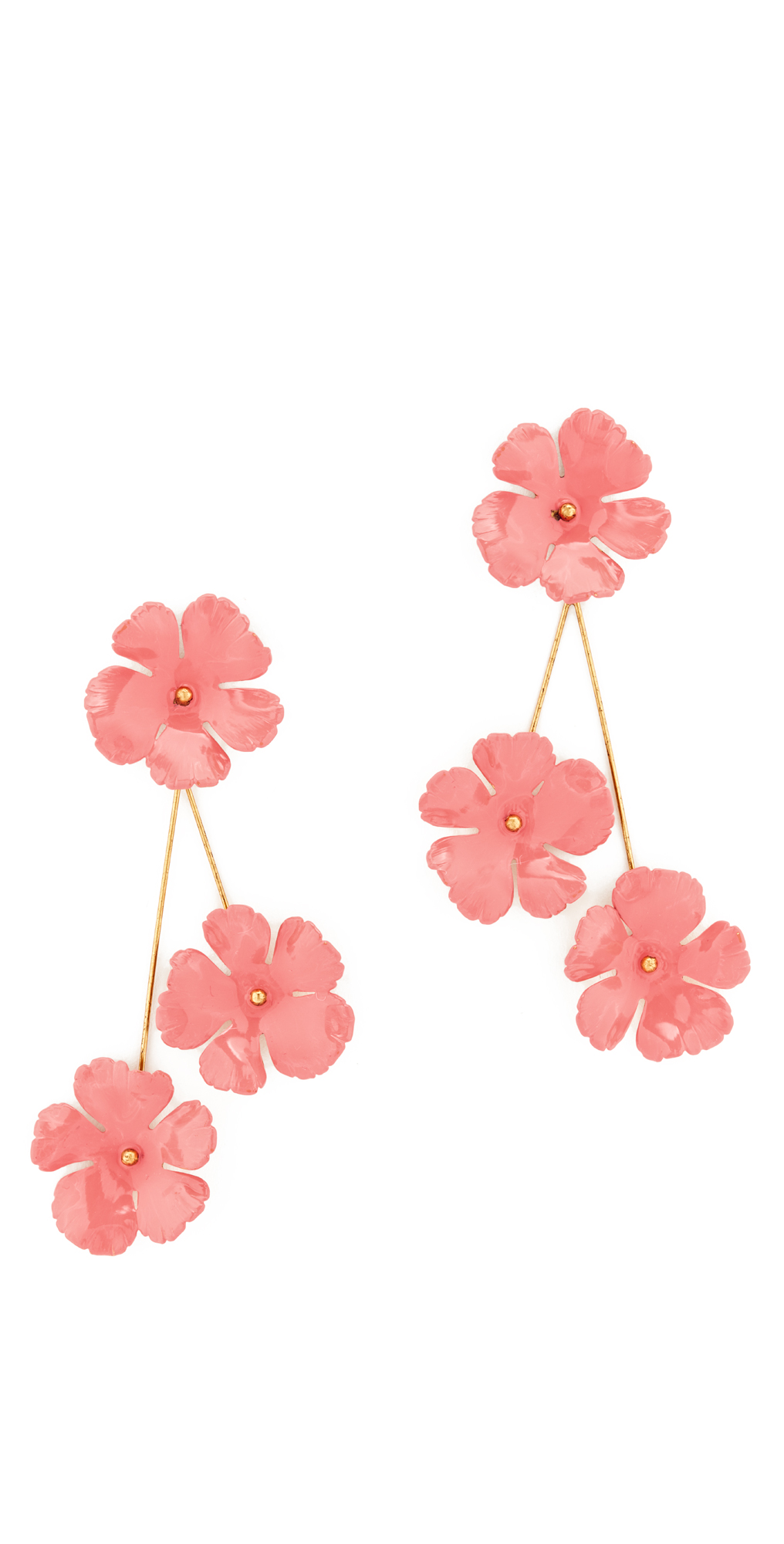 Peony Flower Earrings Jennifer Behr