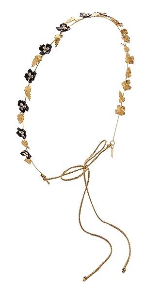 Jennifer Behr Madeline Bandeaux Headband - Gold/Black