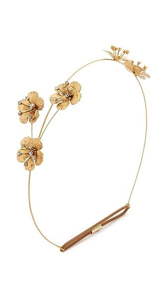 Jennifer Behr Belle Bandeaux Headband - Gold