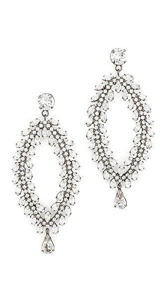 Jennifer Behr Crystal Earrings In Clear/Gunmetal