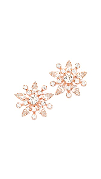 Jennifer Behr Nivita Earrings - Clear/Rose Gold