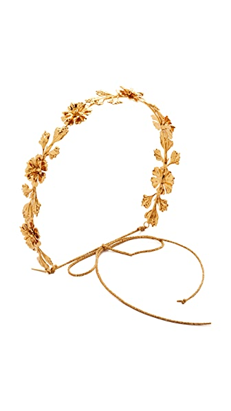 Jennifer Behr Alexandria Circlet Headband - Gold