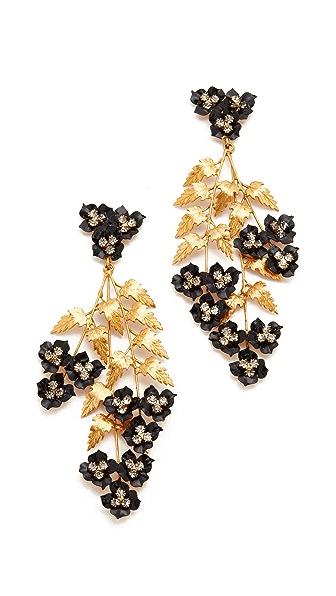 Jennifer Behr Aviva Chandelier Earrings - Gold/Black