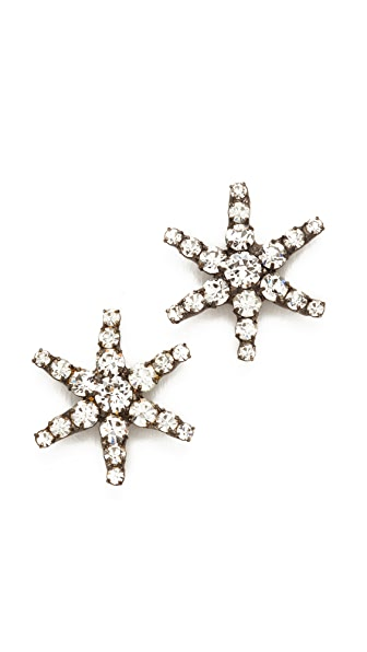 Jennifer Behr Venus Earrings - Crystal/Gunmetal