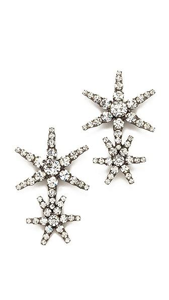 Jennifer Behr Estrella Earrings - Crystal/Gunmetal