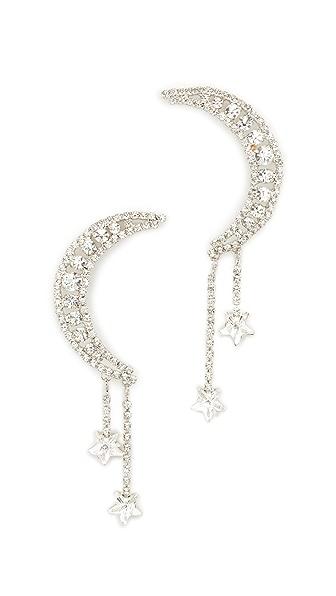 Jennifer Behr Luna Earrings - Crystal/Silver