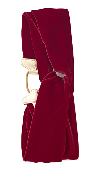 Jennifer Behr Velvet Turban Headwrap - Ruby