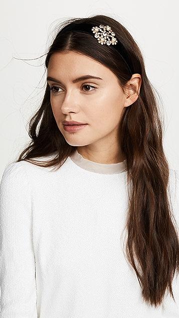 Jennifer Behr Crystal Brooch Headband