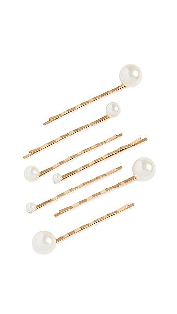 Jennifer Behr Imitation Pearl Bobby Pin Set of 7