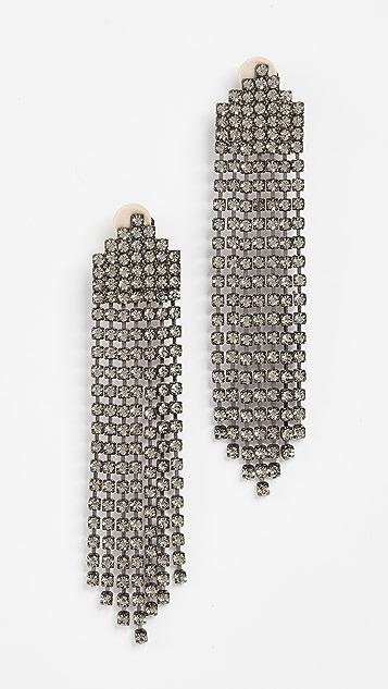 Jennifer Behr Diamante Tassel Earrings