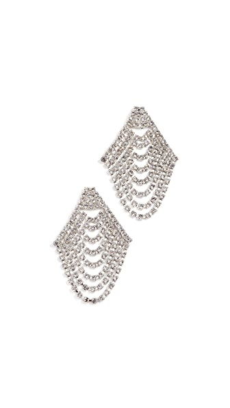 Jennifer Behr Seraphina Cascade Earrings In Crystal