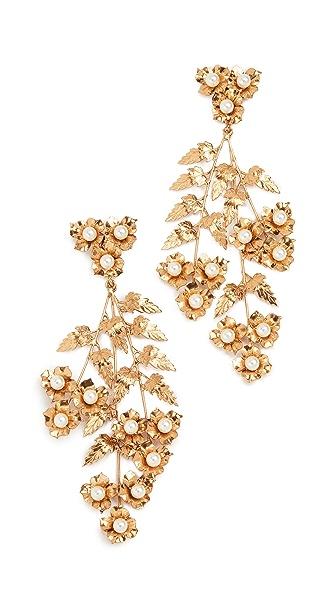 Jennifer Behr Margery Earrings In Yellow Gold