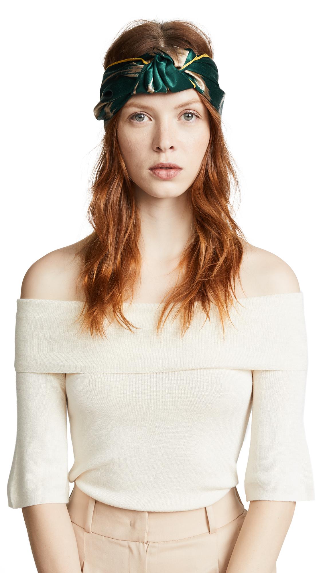 Jennifer Behr Marin Silk Turban Headband AjkeVu