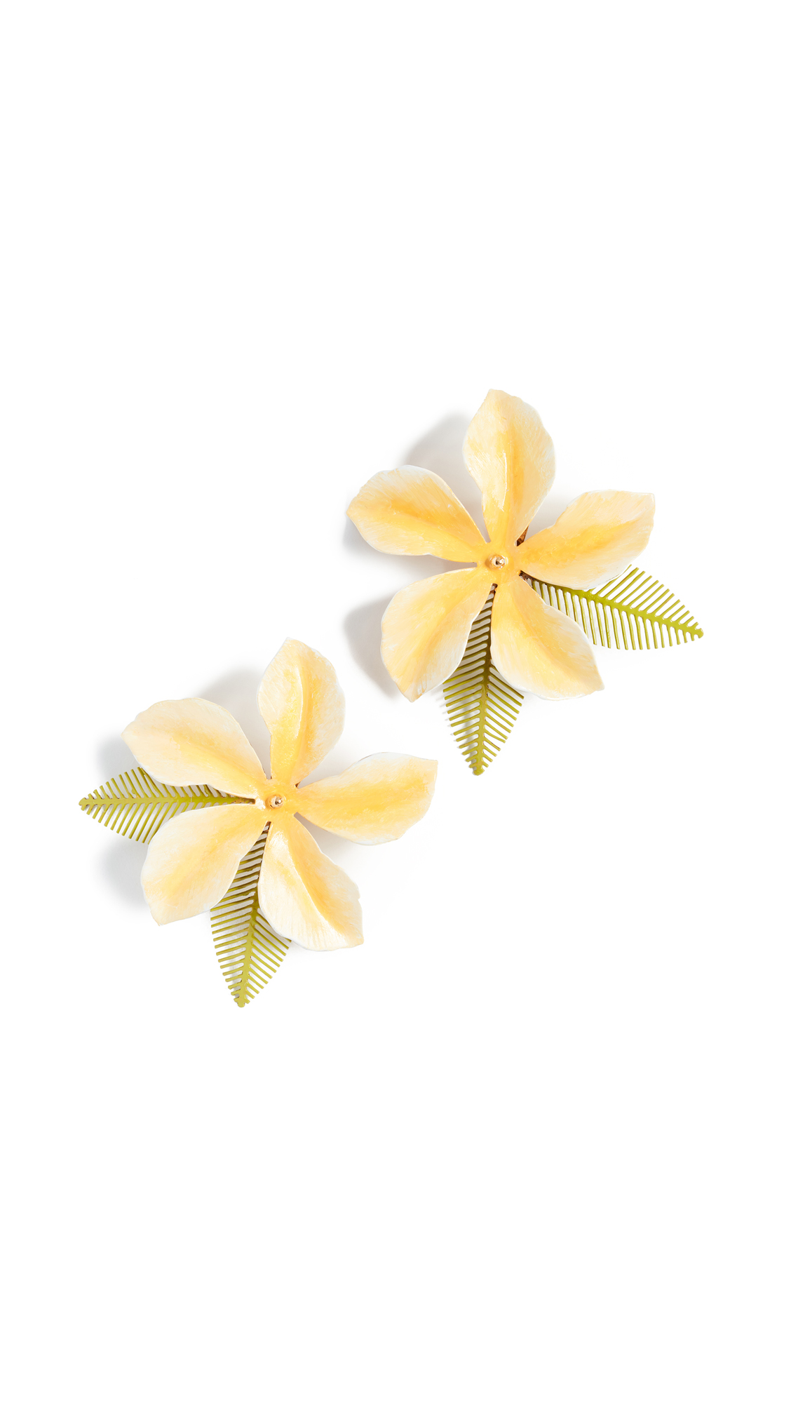 Jennifer Behr Chroma Hibiscis Clip On Earrings In Buttercup