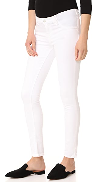 J Brand 34112 Maternity Rail Jeans In Blanc