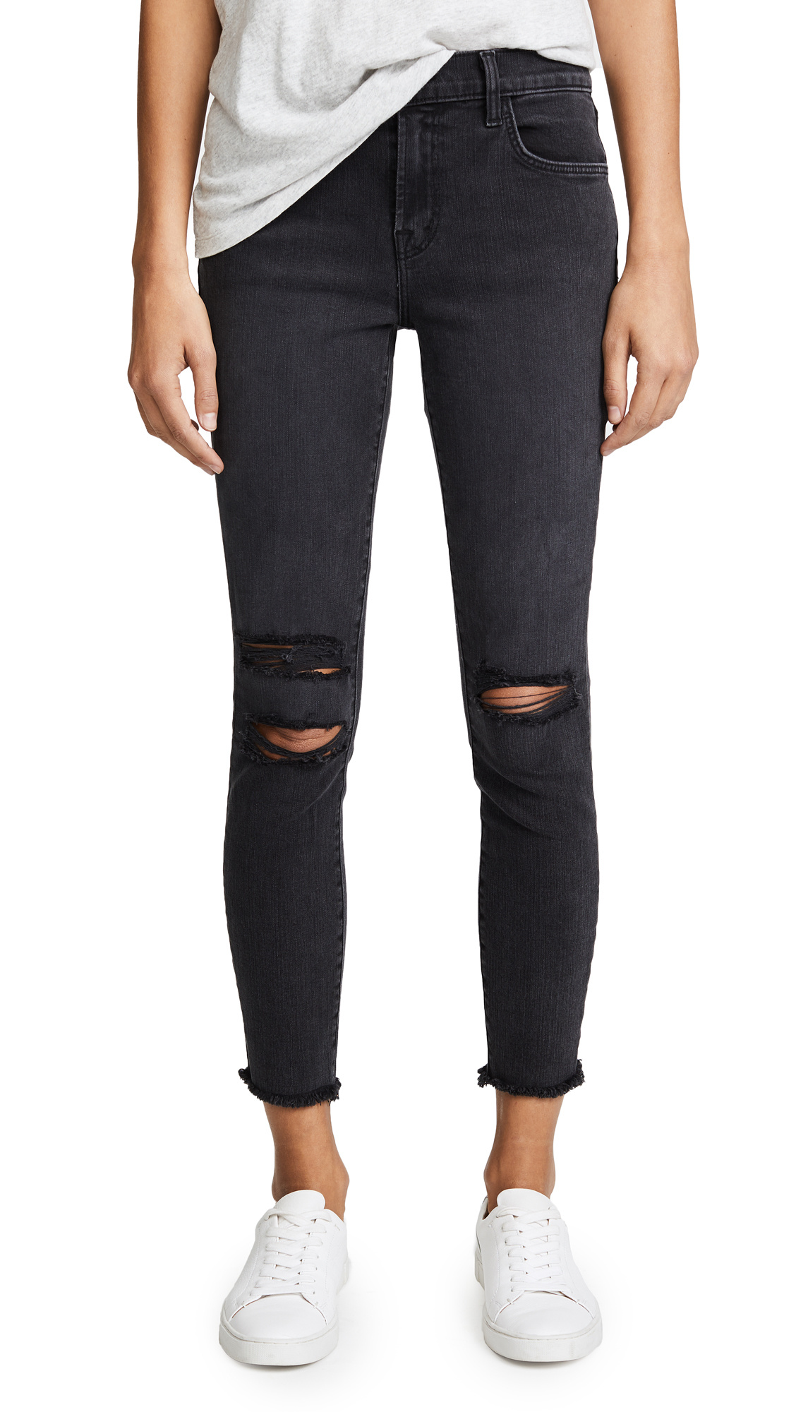 J Brand Photo Ready Cropped Mid Rise Skinny Jeans In Mercy