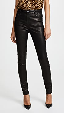 J Brand Maria High Rise Leather Pants