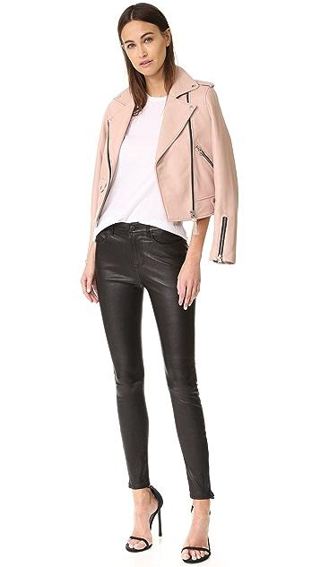 J Brand Maria High Rise Leather Pants