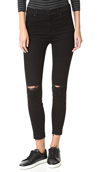 J Brand High Rise Alana Crop Jeans - Offbeat