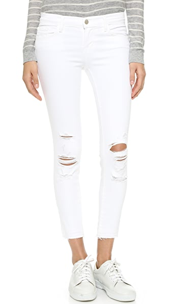 J Brand Cropped Skinny Jeans - Demented