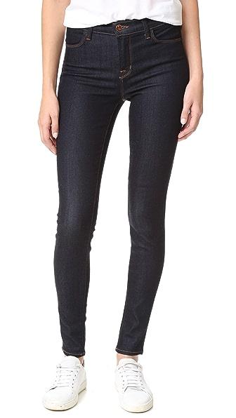J Brand Maria High Rise Skinny Jeans - After Dark