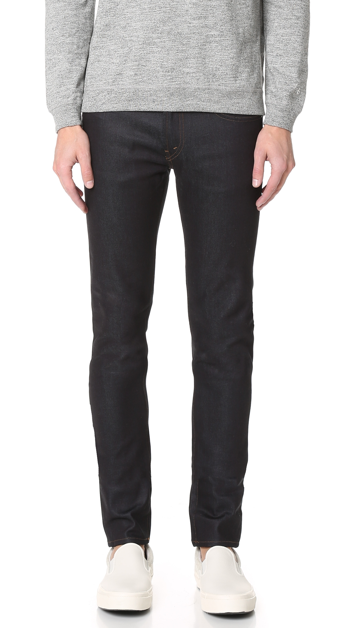 J Brand Mick Raw Denim Skinny Jeans