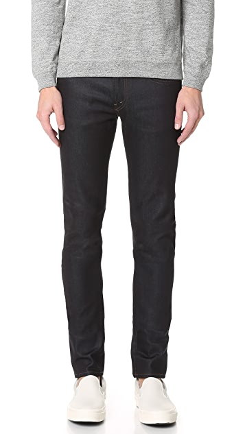 J Brand Mick Raw Denim Skinny Jeans