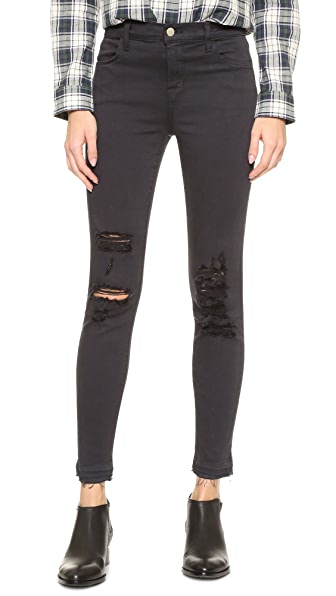 J Brand Alana High Rise Crop Jeans at Shopbop