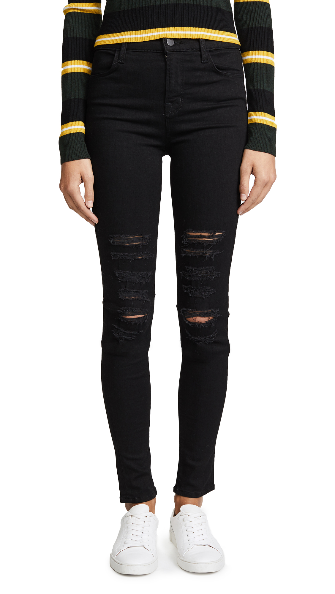 J Brand 23110 High Rise Photo Ready Maria Jeans - Black Heart