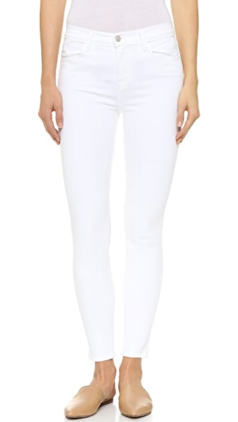 J Brand High Rise Alana Crop Jeans In Blanc