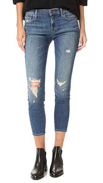 J Brand Low Rise Crop Skinny Jeans - Mischief