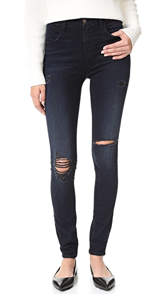 J Brand Maria High Rise Skinny Jeans - Destructed Sanctity