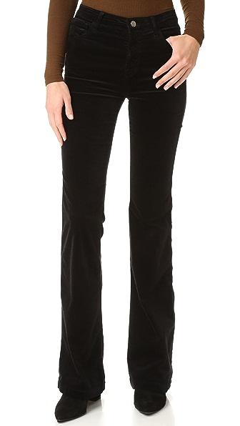 J Brand Maria Velvet Flare Pants
